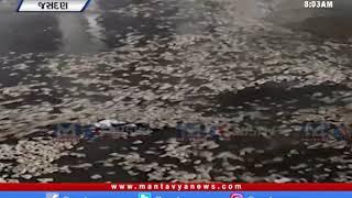 Rajkot: જસદણ માર્કેટયાર્ડમાં વરસાદી પાણીમાં મગફળી તણાઈ