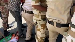 Hathras Gang-Rape: Youth Congress and Mahila Congress protest near UP Bhawan in Delhi