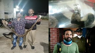 After Continuous Rain Cobra Snakes Found On The Roads | Hyderabad |@Sach News