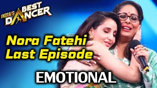 India's Best Dancer: Nora Fatehi Shoots For Her LAST Episode, Emotional Farewell