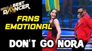 India's Best Dancer: Fans Gets Emotional As Nora Fatehi Shoots For Her Last Episode