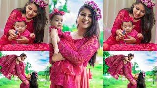 Alya Manasa With Baby Aila Syed's Cute Photoshoot | Alya Manasa, Sanjeev, Raja Rani Serial Vijay Tv