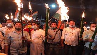 केंद्र सरकार की किसान विरोधी कानून के खिलाफ जिला युवा कांग्रेस ने निकाली मशाल यात्रा