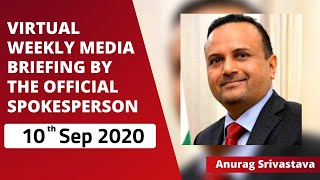 Virtual Weekly Media Briefing by the Official Spokesperson (10 September 2020)