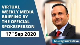 Virtual Weekly Media Briefing by the Official Spokesperson (17 September 2020)