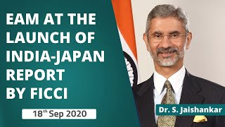 EAM Dr. S. Jaishankar at the launch of India-Japan report by FICCI