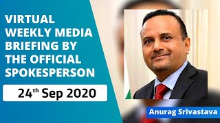 Virtual Weekly Media Briefing by the Official Spokesperson (24 September 2020)