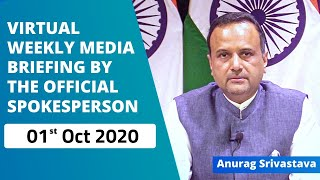 Virtual Weekly Media Briefing by the Official Spokesperson  (01 October 2020)