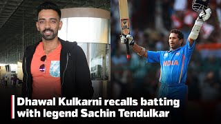 CricTracker Exclusive: Indian cricketer Dhawal Kulkarni recalls batting with legend Sachin Tendulkar