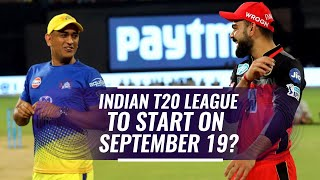 Indian T20 League 2020 - New Start Date | Indian T20 League 2020 Schedule | News Tracker