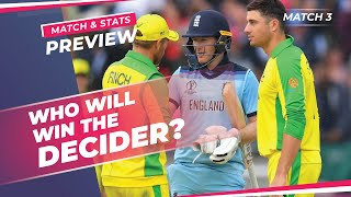England vs Australia: Third ODI Preview | Eng vs Aus 3rd ODI Stats probable playing XI | CricTracker