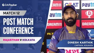 Dinesh Karthik spoke about their victory; Morgan's batting positon and the pace battery
