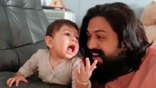 Rocking Star Yash and His Son Funny Video | Yatharv Yash | Ayra | Radhika Pandit