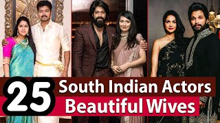 South Indian Heroes With Their Wives | 25 Most Beautiful Real Life Partners of South Indian Actors