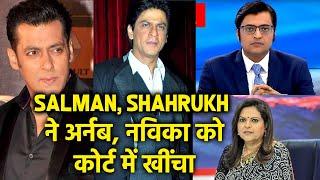 Salman Khan, Shahrukh Aur Aamir Ne Arnab Goswami Aur Navika Kumar Ko Court Me Khicha