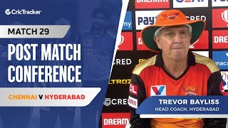 Trevor Bayliss speaks about Hyderabad's loss; Kane Williamson's batting position