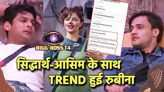 Bigg Boss 14: Sidharth Shukla, Asim Riaz Aur Rubina Eksath Ho Rahe Hai Trend | BB 14