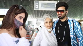 Paras Chhabra With Mother And Mahira Sharma Spotted At Mumbai Airport