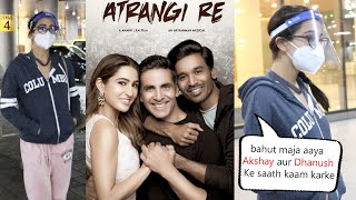 Sara Ali Khan Back in Mumbai After Shooting With DHANUSH in Chennai For The Film ATRANGI RE