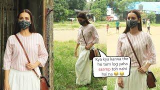 Dia Mirza Full Funny With Media While Giving Pose At Rohan Shrestha studio Versova
