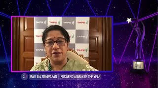 ETPWLA 2020: Mallika Srinivasan of TAFE awarded 'Business Woman of the Year'