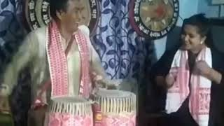 Assamese Dhool or drum playing