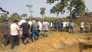 Burial of of Mising human body after death