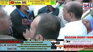 AIMIM CONGRESS CLASHES AT MUSANAGAR MALAKPETCONSTITUENCY CHADARGHAT PS LIMITS HYDERABAD