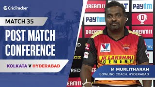 M Muralitharan speaks about Hyderabad's loss and sending Kane Williamson as an opener