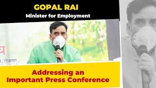 Minister of Environment Shri Gopal Rai Ji Addressing an Important Press Conference   LIVE