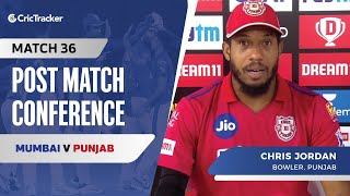 Chris Jordan speaks about Punjab's win; Chris Gayle's absence in first Super Over