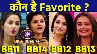 Bigg Boss 14 | Kaunsi Bahu Aapki Hai Favorite? | Hina Khan, Dipika Kakkar, Devoleena, Rubina
