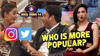 Bigg Boss 14: Social Media Pr In SENIORS Ke Kitne Hai Fans?| Sidharth Shukla, Gauhar Khan, Hina Khan