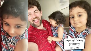 Neil Nitin Mukesh Daughter NURVI NEIL MUKESH Very Very Cute Video