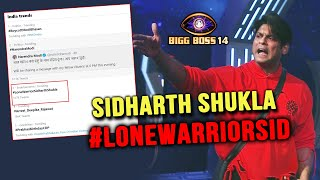 Bigg Boss 14: Sidharth Ke Support Me Utare SIDHEARTS, Twitter Par Trend #LONEWARRIOR