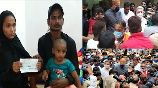 Asaduddin Owaisi Helps The Family Of Mangalhat | Who Loss Their Daughter In Floods |@Sach News