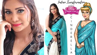 Indian Cinderella Transformation | Step By Step Wedding Guest Makeup for Beginners | Nidhi Katiyar