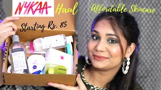 Nykaa Haul Starting rs. 85 + Mini Reviews | Affordable skincare Haul | Nidhi Katiyar