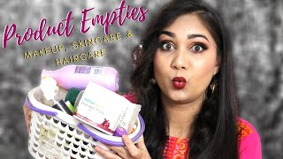 Makeup, Skincare & Haircare Empties India with Mini Reviews | Will I Repurchase? | Nidhi Katiyar