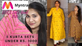 Myntra EORS Sale Haul 2020 |  Libas, Gerua Kurta Set under Rs. 1000 | Nidhi Katiyar