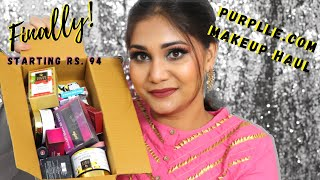 Affordable Makeup Haul | Finally! a Huge Purplle Makeup & Skincare Haul | Nidhi Katiyar