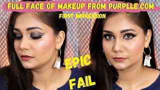 Purplle.com Makeup Try On + First Impression | Full Face of Ultra Affordable Makeup | Nidhi Katiyar