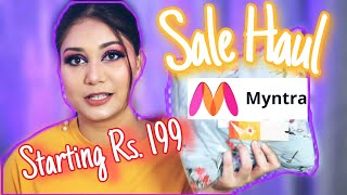 Huge Myntra END OF REASON SALE Haul - Kurta Sets &Tops Starting Rs. 200 | Nidhi Katiyar