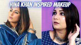 Hina Khan Inspired Makeup Using CuffsNLashes Makeup Brushes & New Affordable Makeup / Nidhi Katiyar
