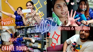 Vlog: Finally Meeting Shystyles & MASATuber after 6 months, Small office tour/ Nidhi Katiyar