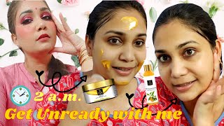 2 am - Get Unready with me Using Only Good Vibes | Night Time Skin Care | Nidhi Katiyar