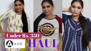 Ajio Kurti Haul 2020 Try On/ Kurtis Under Rs. 300 - Affordable College/Office wear Kurtis & Tops