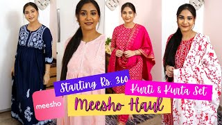 Meesho Kurti & Kurti Set Haul / Affordable Kurti & Kurti Set Starting Rs. 360 / Nidhi Katiyar