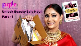 Purplle Haul + GIVEAWAY/ Unlock Beauty Sale Haul - Part - 1  / Nidhi Katiyar