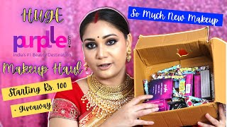 Huge Purplle.com Affordable Makeup Haul  - PART 2/ New Launches / Stay Quirky, NY Bae/ Nidhi Katiyar
